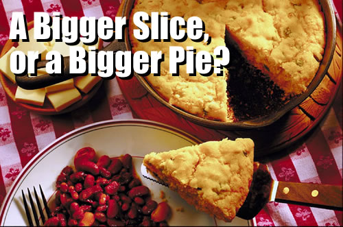 A Bigger Slice, or a Bigger Pie?